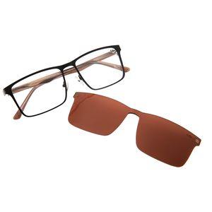 e211cc9ae286f Armação para Óculos de Grau Chilli Beans Masculino Multi 2 em 1 Preto 0178  - LV.MU.0178.0201 M