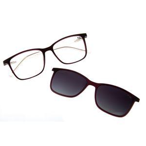 25fda7a3c Armação para Óculos de Grau Chilli Beans Feminino Multi 2 em 1 Roxo  Polarizado 0184 - LV.MU.0184.2014 M