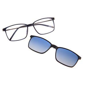7bc29d9be961f Armação para Óculos de Grau Masculino Chilli Beans Quadrado Multi Clip On  Polarizado Azul 0164 - LV.MU.0164.2008 M