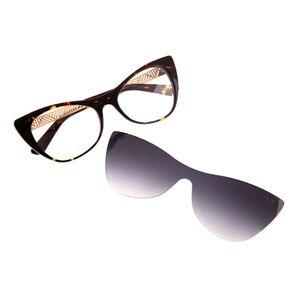 a683936a0fd44 Armação para Óculos de Grau Chilli Beans feminino Multi Arte de Rua Crânio  Tartaruga 0194 - LV.MU.0194.0206 M