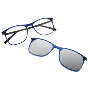 0a87870629942 Armação para Óculos de Grau Chilli Beans Bicolor Clip On Azul 0186 -  LV.MU.0186.0090 M