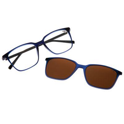 b617c5171 Armação para Óculos de Grau Masculino Chilli Beans Multi 2 Em 1 Clip On  Polarizado Marrom