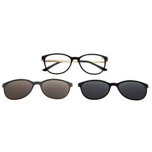 98ae50ec5 Armação para Óculos de Grau Feminino Chilli Beans Multi 2 em 1 Gatinho Preto  Polarizado - LV.MU.0168.0107 M