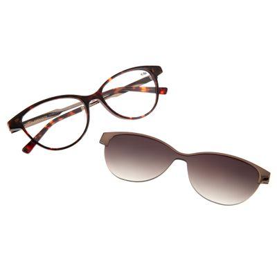 260903e55 Armação para Óculos de Grau Chilli Beans Multi 2 em 1 Gatinho Degradê  Tartatuga