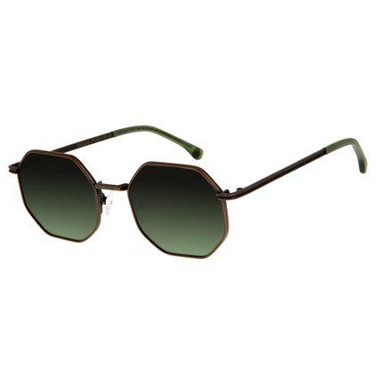 Óculos de Sol Unissex Chilli Beans Ouro 2564 0ac956925a