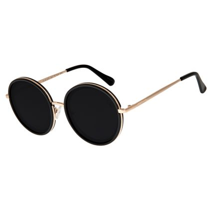 5da65d53530a7 Óculos de Sol Feminino Chilli Beans Dourado 2570