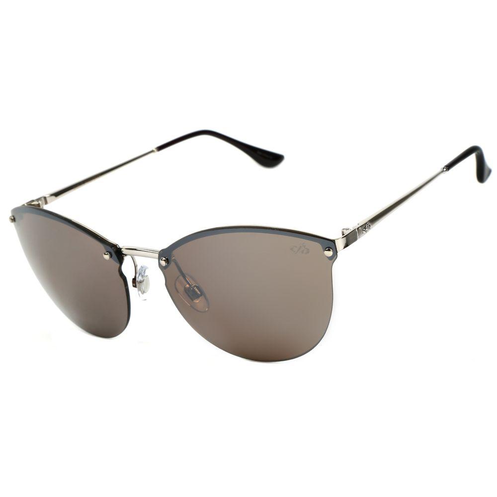 Óculos de Sol Feminino Chilli Beans Redondo Prata  OC.MT.2052-3207.2