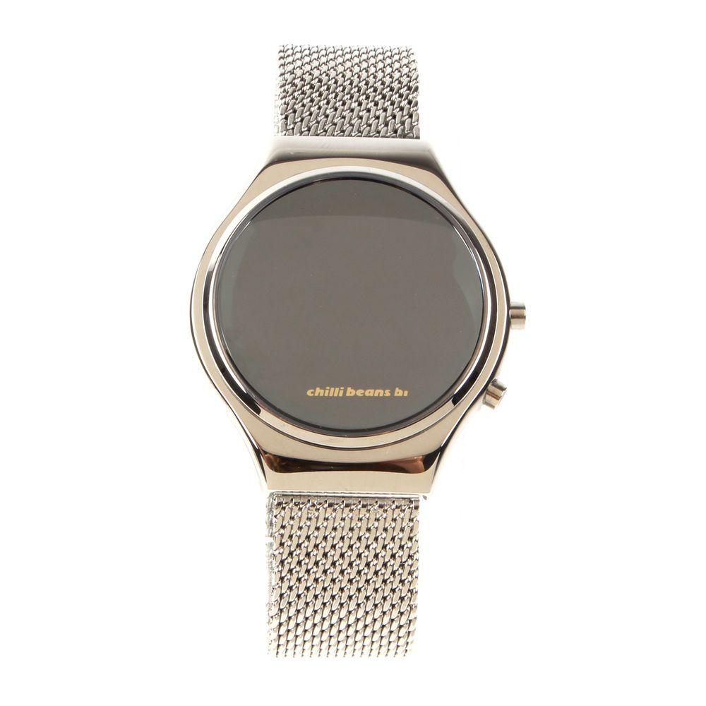 Relógio Digital Feminino Chilli Beans Fashion Espelhado Prata RE.MT.0461-0707