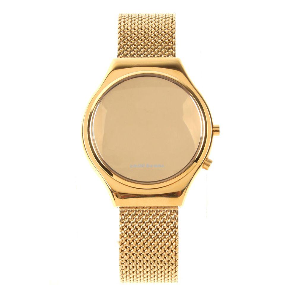 Relógio Digital Feminino Chilli Beans Fashion Espelhado Dourado RE.MT.0461-2121