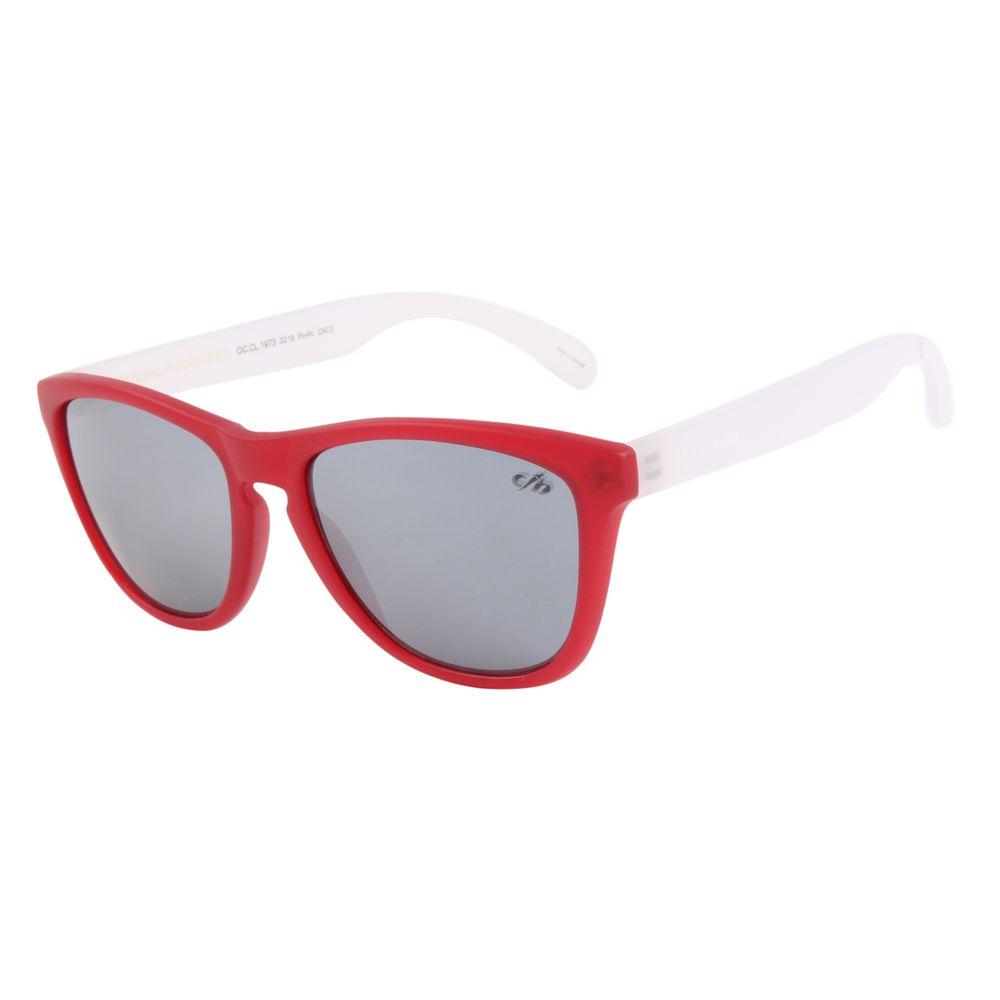 Óculos De Sol Unissex Chilli Beans Quadrado 90'S Vermelho OC.CL.1973-3216