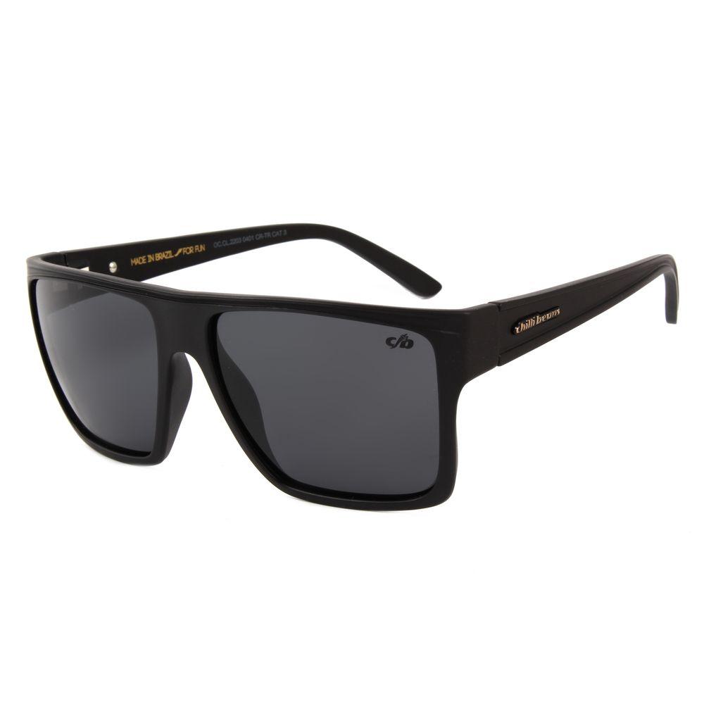 Óculos de Sol Unissex Chilli Beans Quadrado Preto Polarizado OC.CL.2203-0401