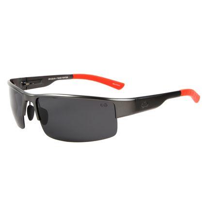 Óculos de Sol Masculino Chilli Beans Esportivo Cinza Escuro Polarizado OC.AL.0151-0128