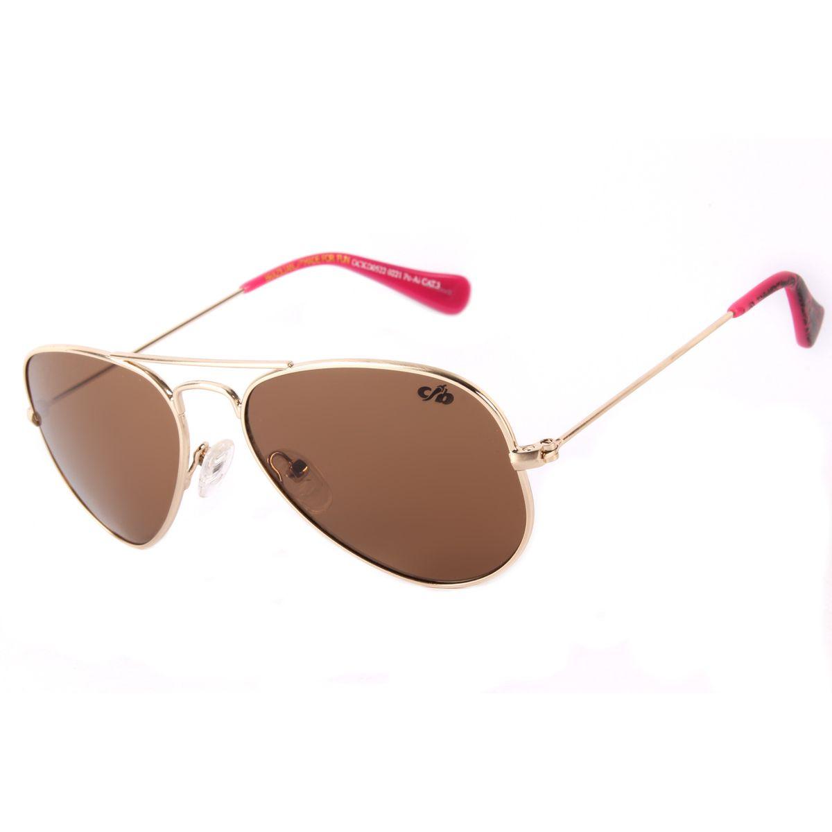 2f0ad3e735aff Óculos de Sol Infantil Rock Fellas Cazuza Marrom 0522 - Chilli Beans