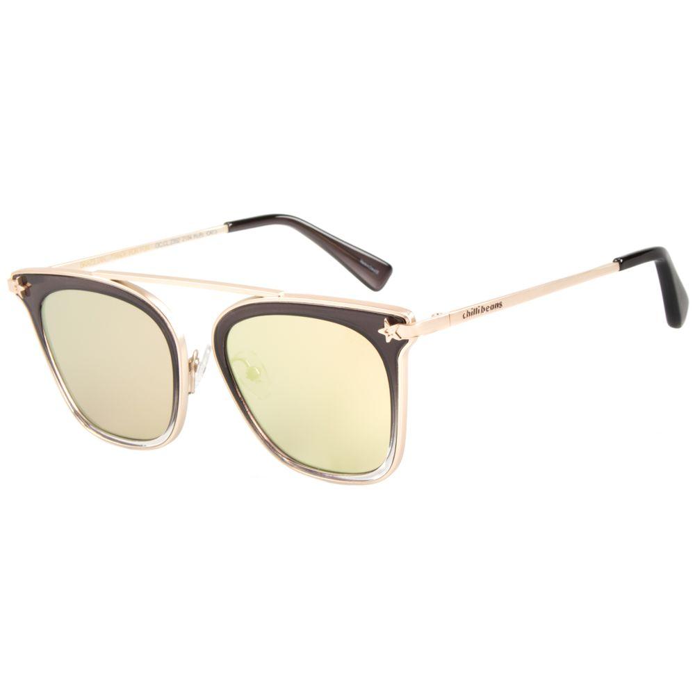 Óculos de Sol Feminino Anitta Chilli Beans Star Cinza OC.CL.2352-2104