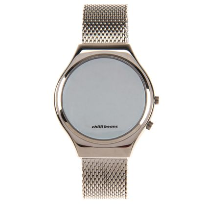 Relógio Digital Feminino Chilli Beans Fashion Espelhado Cinza RE.MT.0461-0404