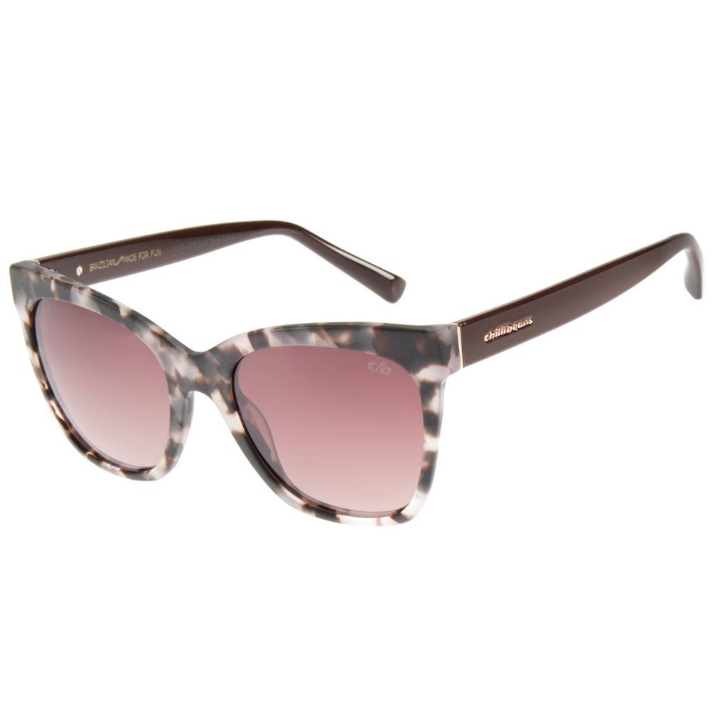 Óculos de Sol Feminino Chilli Beans Polarizado Tartaruga OC.CL.2378-0206