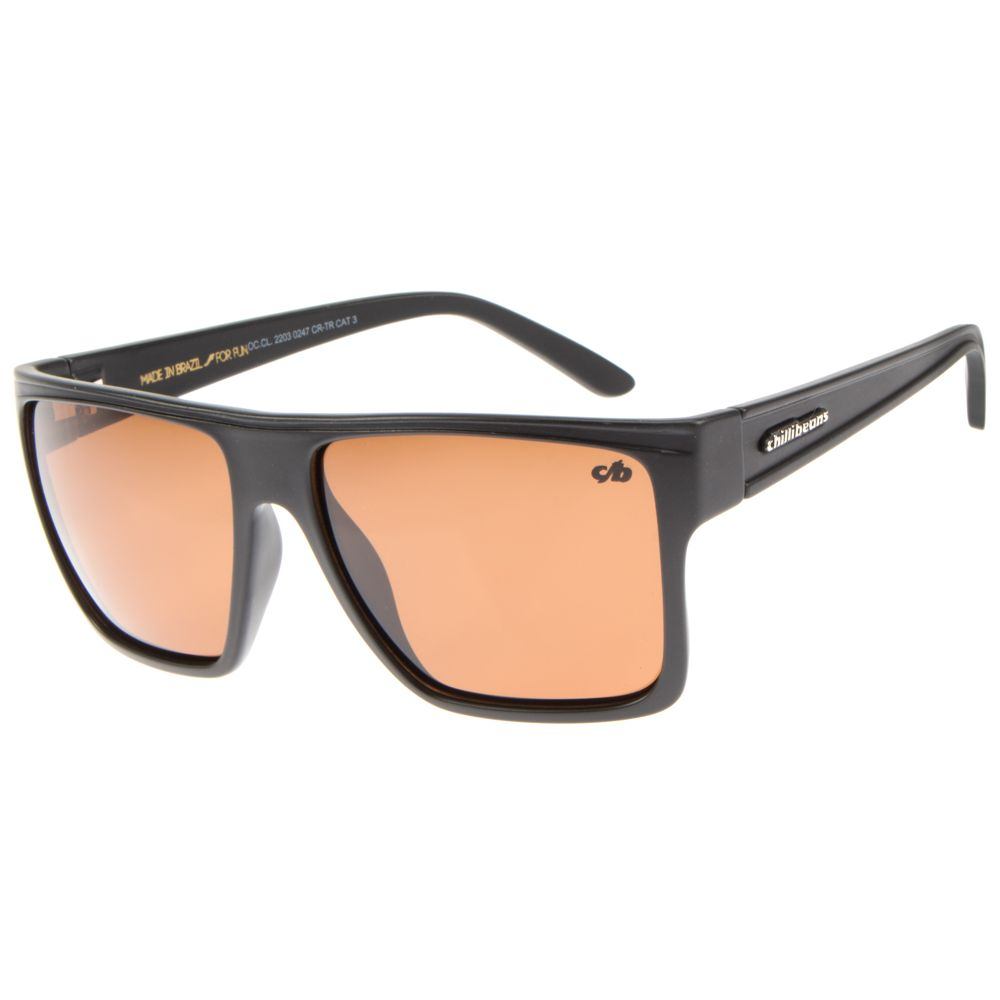 Óculos de Sol Unissex Chilli Beans Marrom Polarizado Essential OC.CL.2203-0247