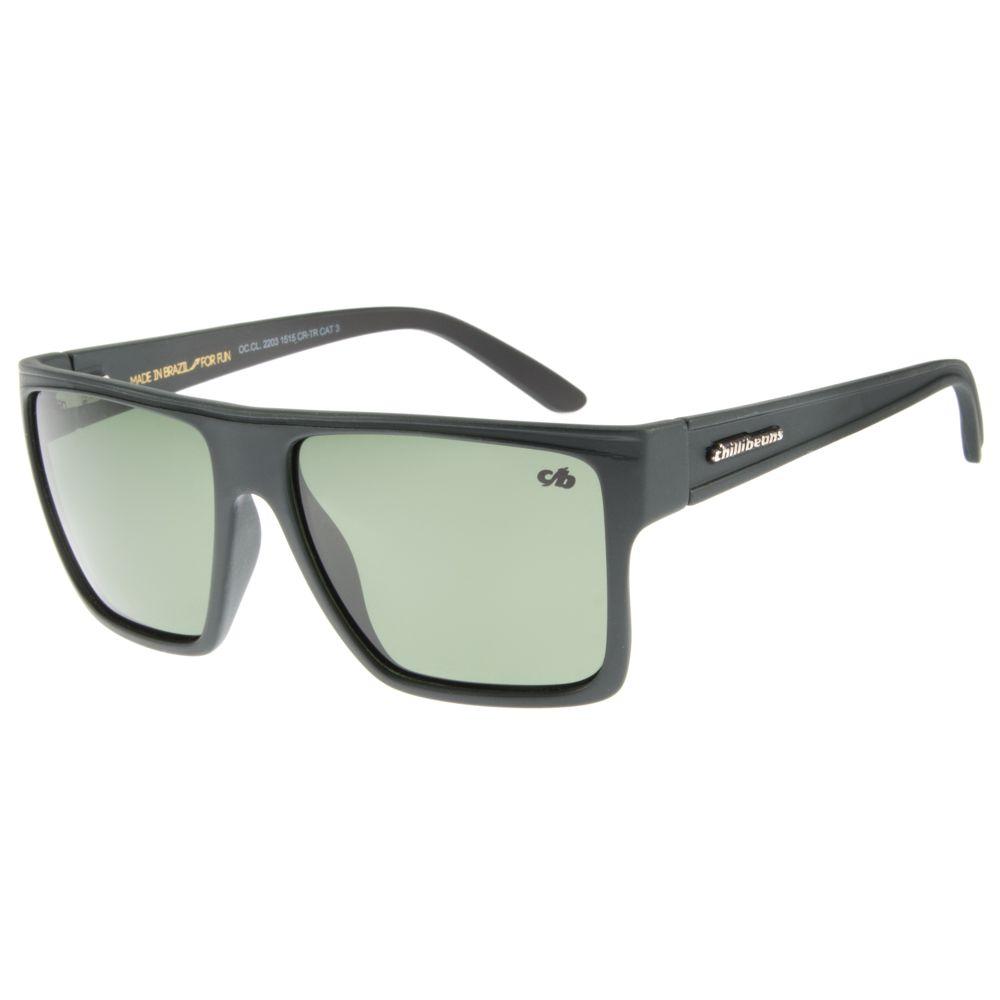 Óculos de Sol Unissex Chilli Beans Verde Polarizado Essential OC.CL.2203-1515