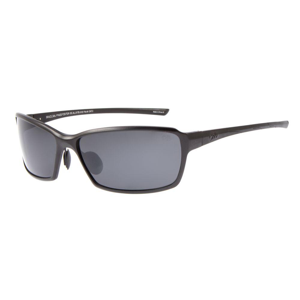 Óculos de Sol Masculino Chilli Beans Quadrado Esportivo Preto Polarizado OC.AL.0179-0101