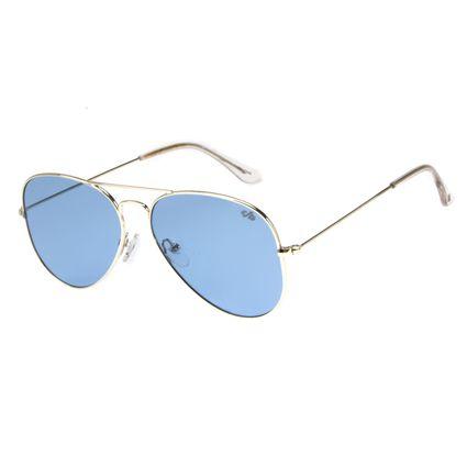 Óculos de Sol Unissex Chilli Beans Aviador Prata OC.MT.2418-0807