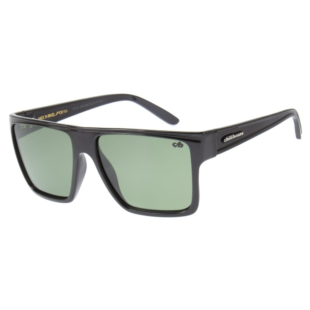 Óculos de Sol Unissex Chilli Beans Preto Polarizado Essential OC.CL.2203-0530