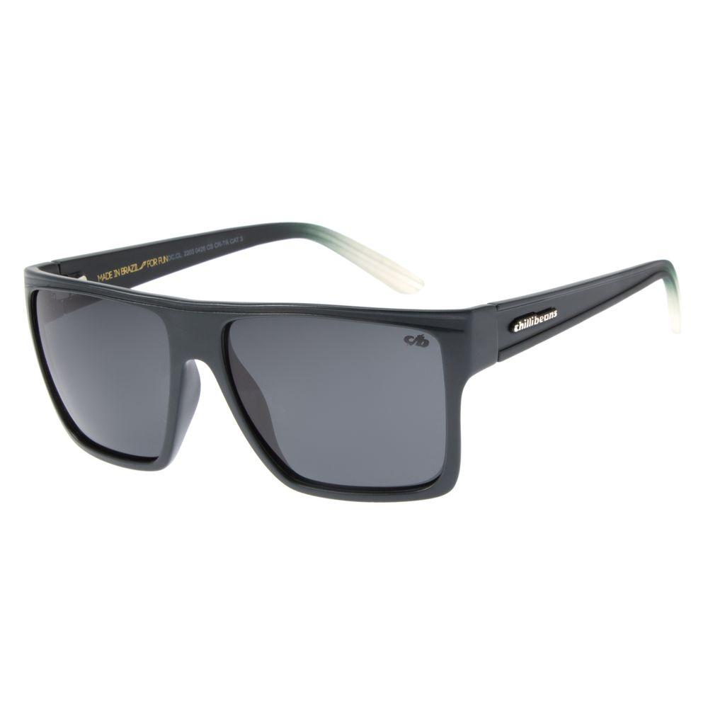 Óculos de Sol Unissex Chilli Beans Essential Quadrado Grafite Polarizado OC.CL.2203-0424