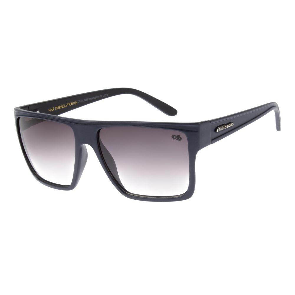 Óculos de Sol Chilli Beans Unissex Quadrado Azul Escuro Essential OC.CL.1058-9004