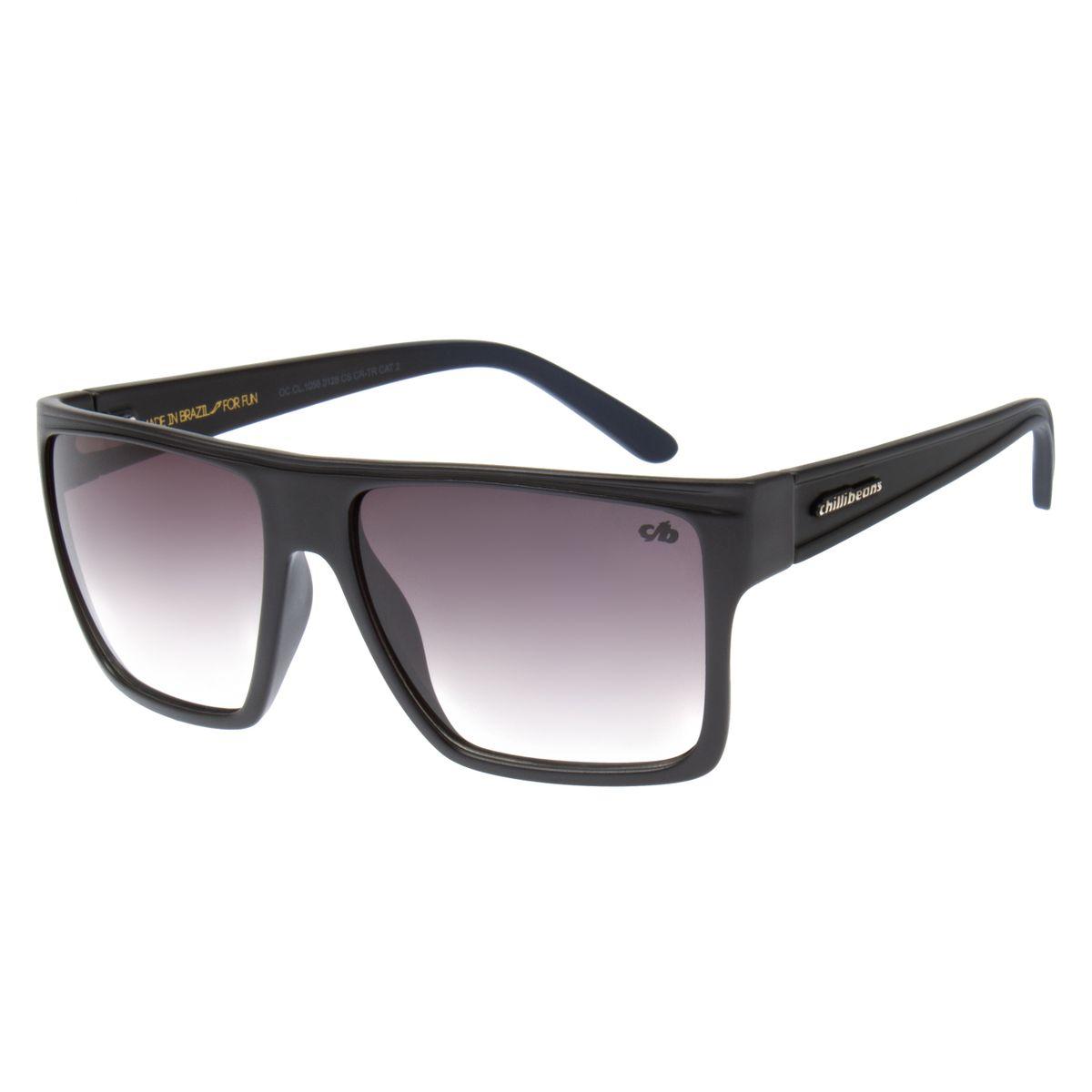 3d6d98ce0 Óculos de Sol Unissex Chilli Beans Cinza 1058 - Chilli Beans