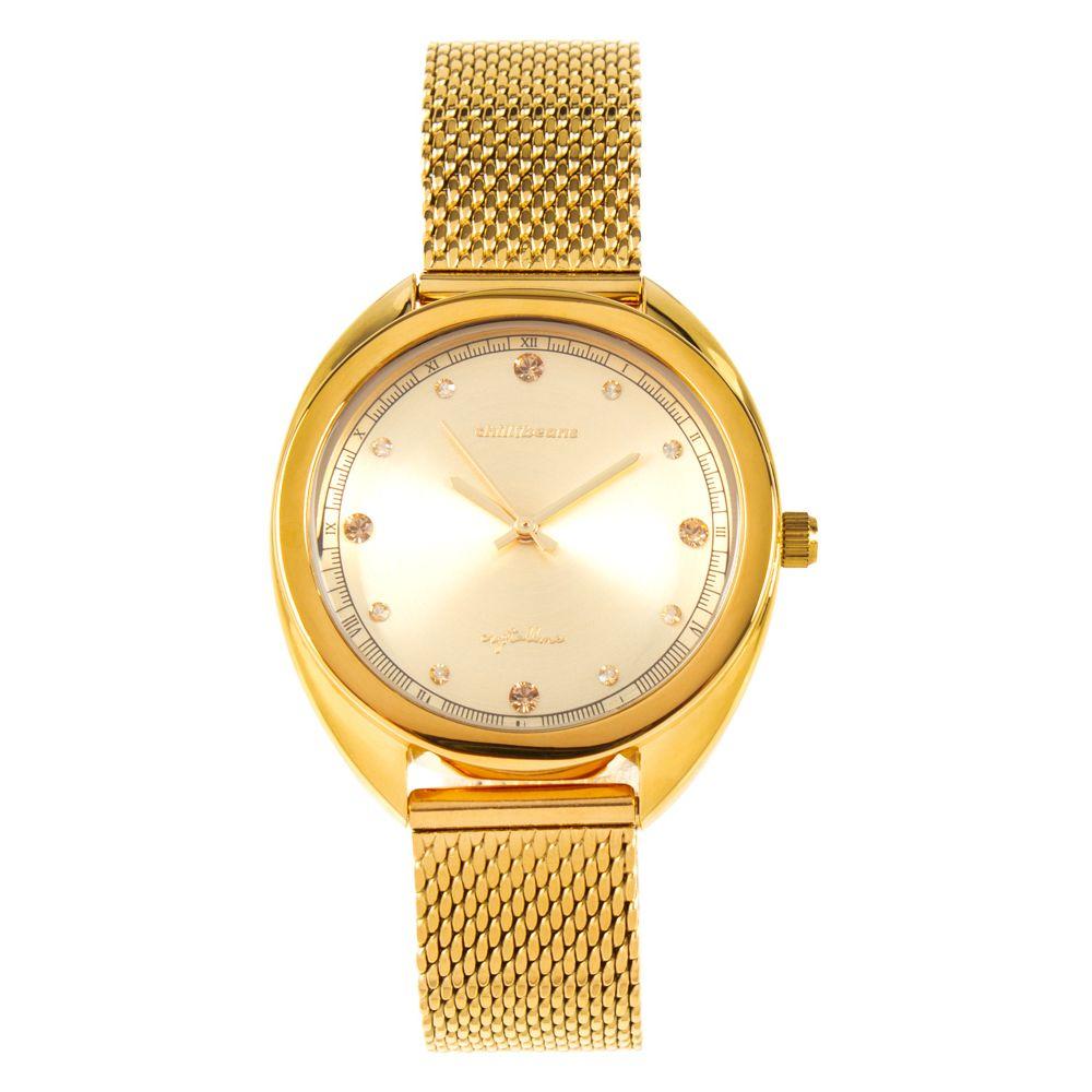 Relógio Analógico Feminino Chilli Beans Cristal Dourado RE.MT.0608-2121