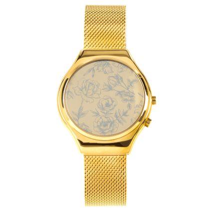 Relógio Digital Feminino Chilli Beans Dourado RE.MT.0645-2121