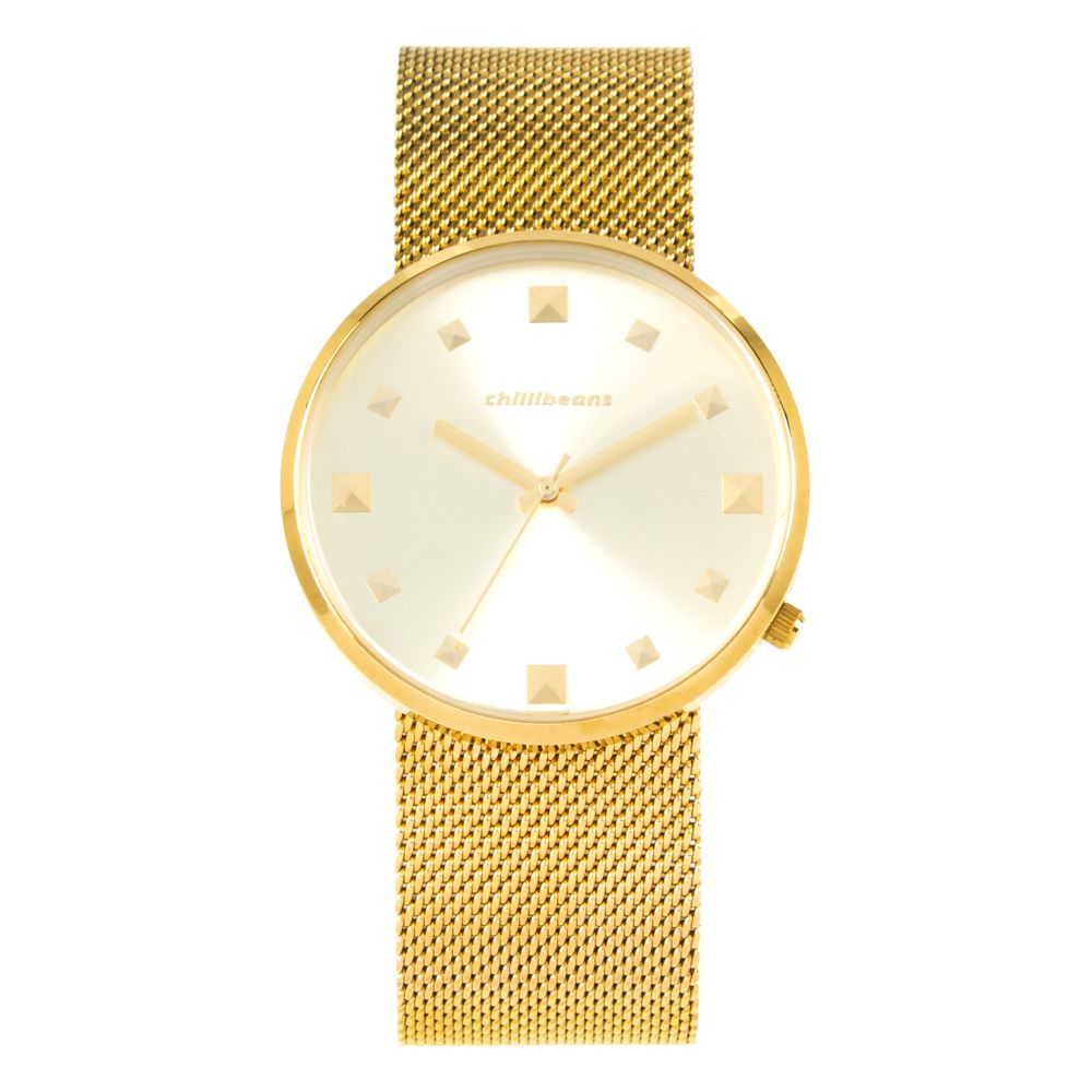 Relógio Analógico Feminino Chilli Beans Metal Dourado RE.MT.0646-2121