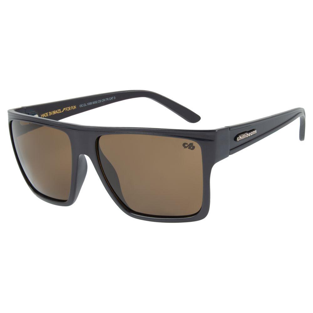 Óculos de Sol Unissex Chilli Beans Essential Quadrado Marrom OC.CL.1058-9002