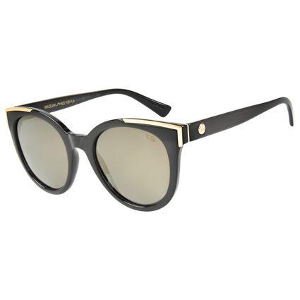 Óculos de Sol Feminino Chilli Beans Redondo Dourado Polarizado OC.CL.2469-2101