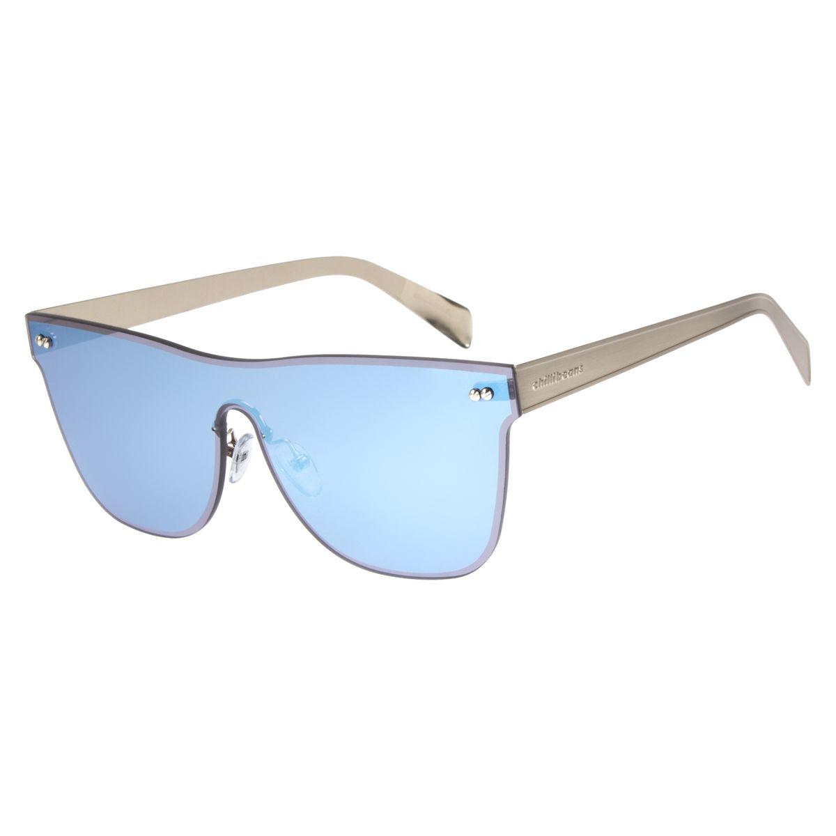 f505e1cb982bf Óculos de Sol Unissex Double Lenses Prata 2486 - Chilli Beans