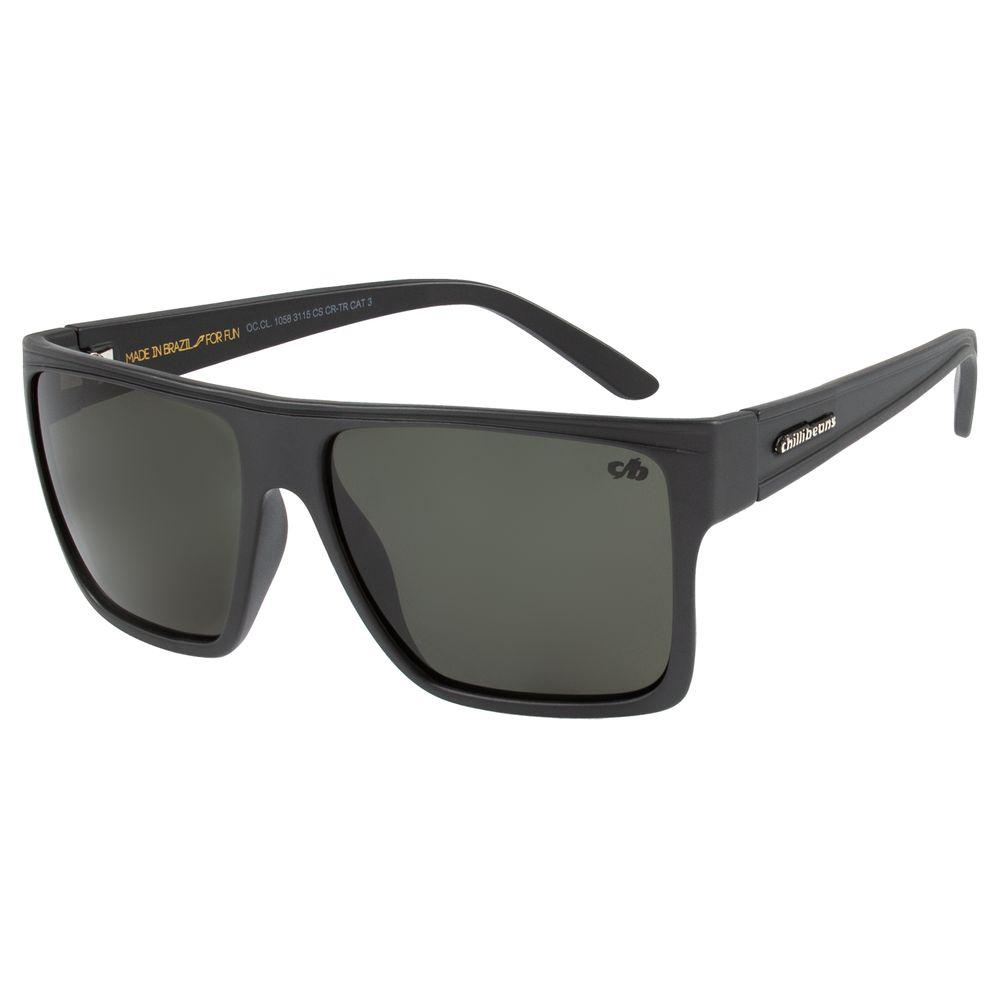 Óculos de Sol Unissex Chilli Beans Essential Quadrado Verde Fosco OC.CL.1058-3115