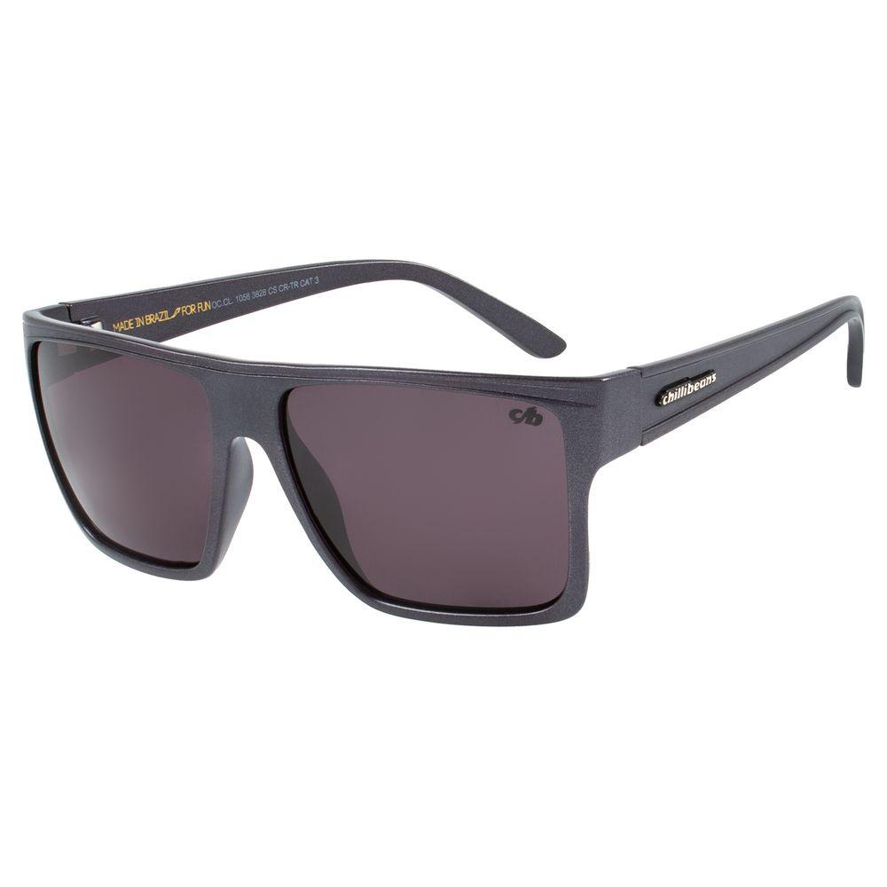 Óculos de Sol Unissex Chilli Beans Essential Quadrado Cinza OC.CL.1058-3828