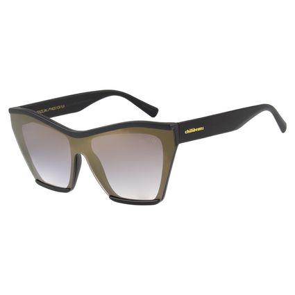 Óculos de Sol Feminino Chilli Beans Máscara Dourado OC.CL.2431-2101