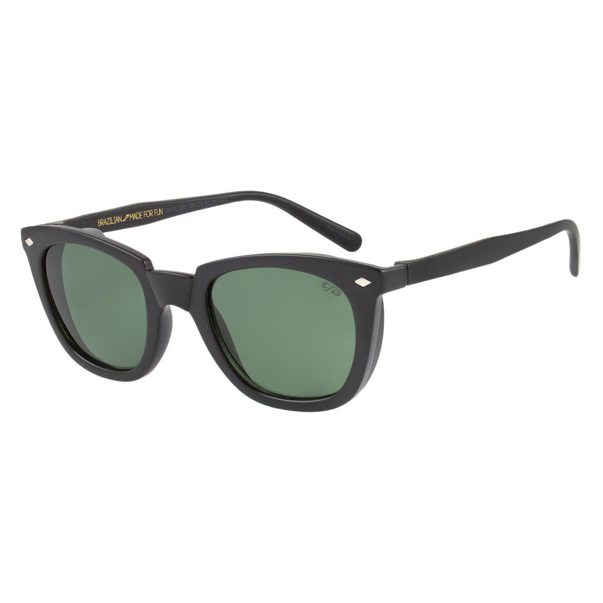 Óculos de Sol Unissex Vintage Por Marcelo Sommer Preto 2521 - OC.CL.2521.1501 M