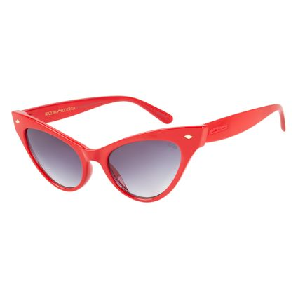 1db581a84afc9 Óculos de Sol Feminino Vintage Por Marcelo Sommer Vermelho 2523