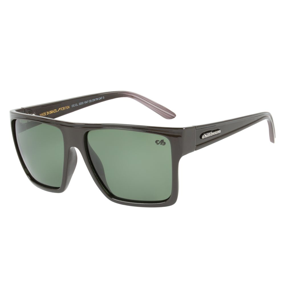 Óculos de Sol Unissex Chilli Beans Marrom Polarizado Essential OC.CL.2203-1547