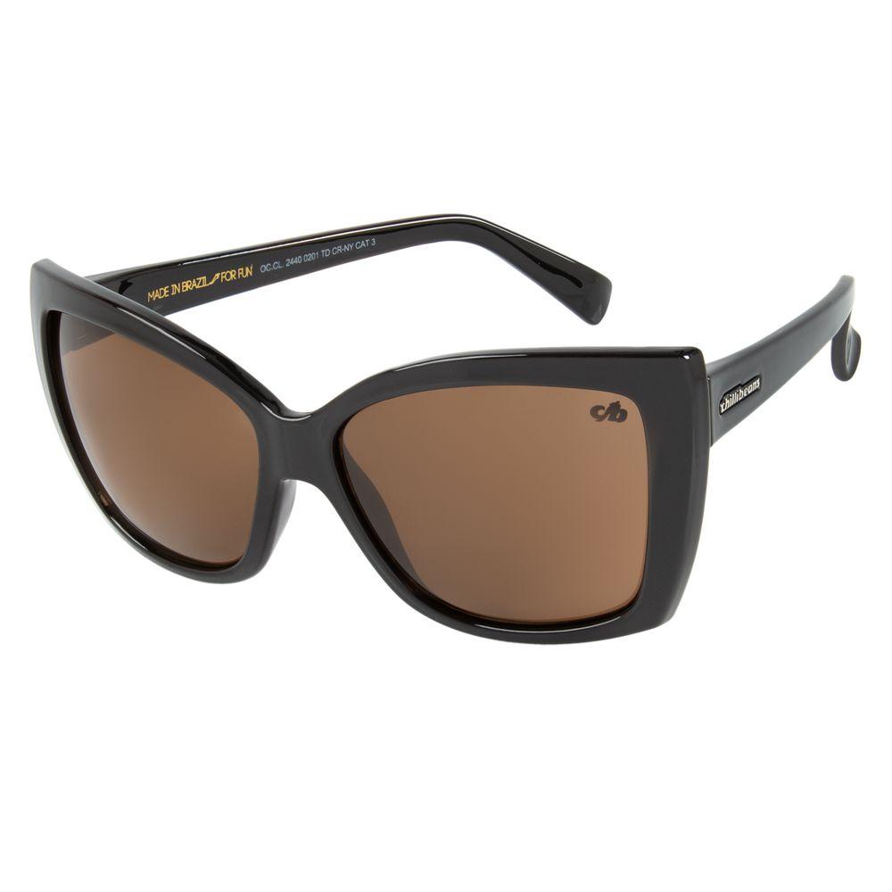 Óculos de Sol Feminino Chilli Beans Preto 2440 - OC.CL.2440.0201 M.  OC.CL.2440.0201 b4b1c7d905