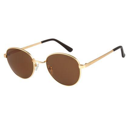 Óculos de Sol Unissex Chilli Beans Dourado 2517 0fdd184022