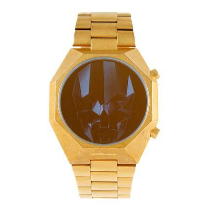 Relógio Digital Masculino Chilli Beans Caveira Dourado RE.MT.0666-2121