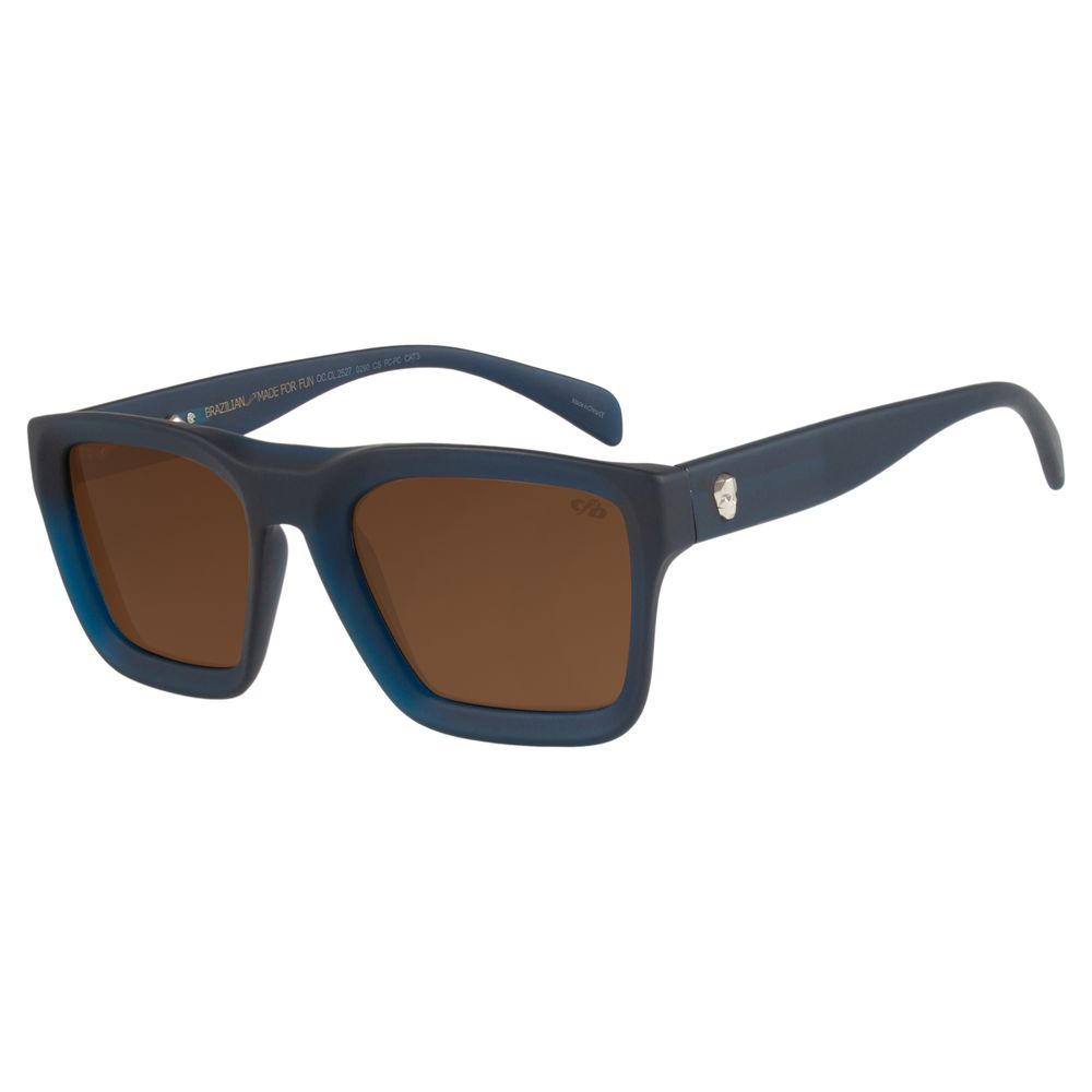 Óculos de Sol Masculino Chilli Beans Caveira Azul Escuro OC.CL.2527-0290