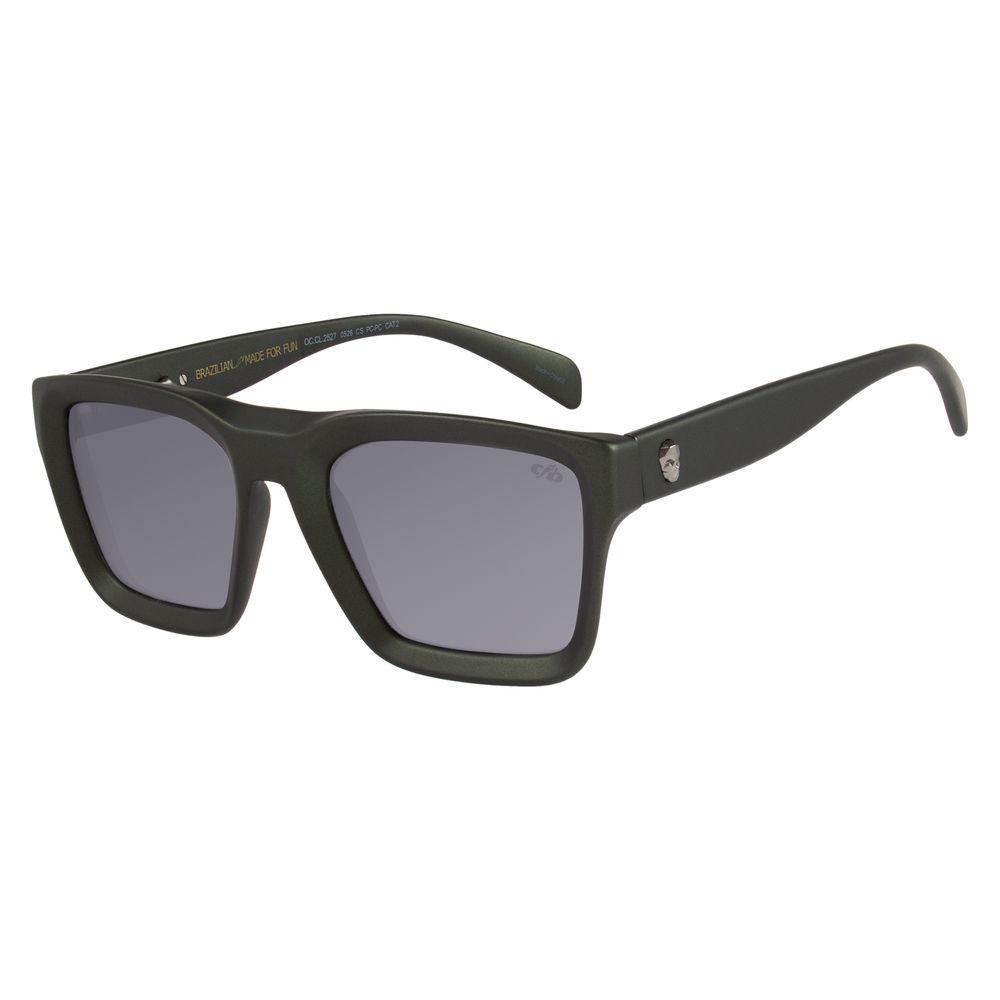 Óculos de Sol Masculino Chilli Beans Caveira Verde Escuro OC.CL.2527-0526