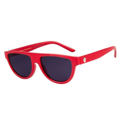 Óculos De Sol Unissex Chilli Beans Caveira Vermelho  OC.CL.2528-0116