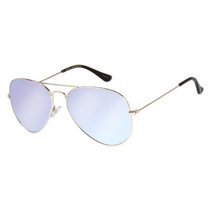 Óculos de Sol Unissex Chilli Beans Aviador Prata OC.MT.2513-0007
