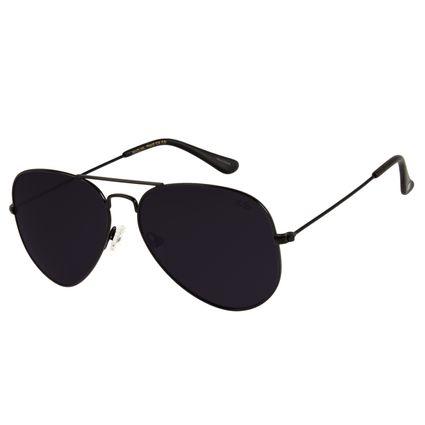 Óculos de Sol Unissex Chilli Beans Aviador Metal Preto OC.MT.2513-0101