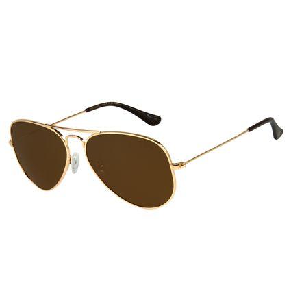 Óculos de Sol Unissex Chilli Beans Aviador Casual Dourado OC.MT.2511-2121