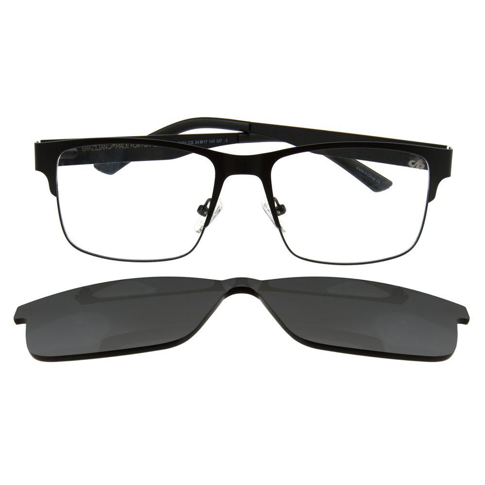 Armação Para Óculos de Grau Masculino Chilli Beans Multi Retangular Preto LV.MU.0109-0101.6